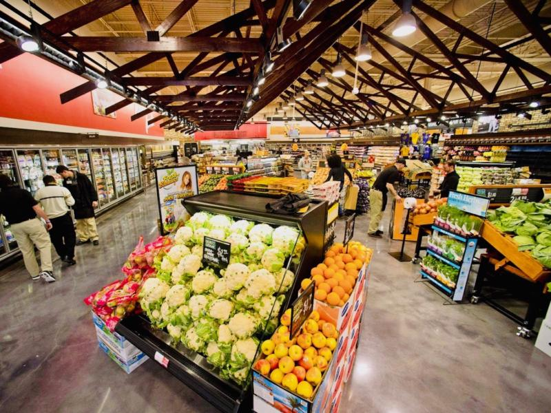 interior of grocery store after real estate development